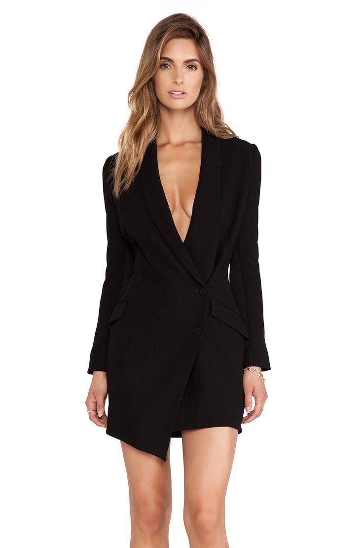 Haute hippie tux dress in black