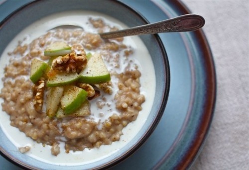 Overnight apple pie steel cut oatmeal breakfast pinterest