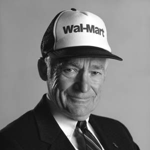 """SAM WALTON (1918-1992)  He promised us """"Every Day Low Prices,"""" and we took him up on the offer"""