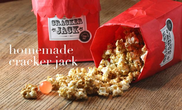 homemade cracker jacks perfect for the first little league game this ...