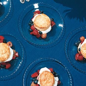 Mixed-Berry Shortcakes with Vanilla Whipped Cream