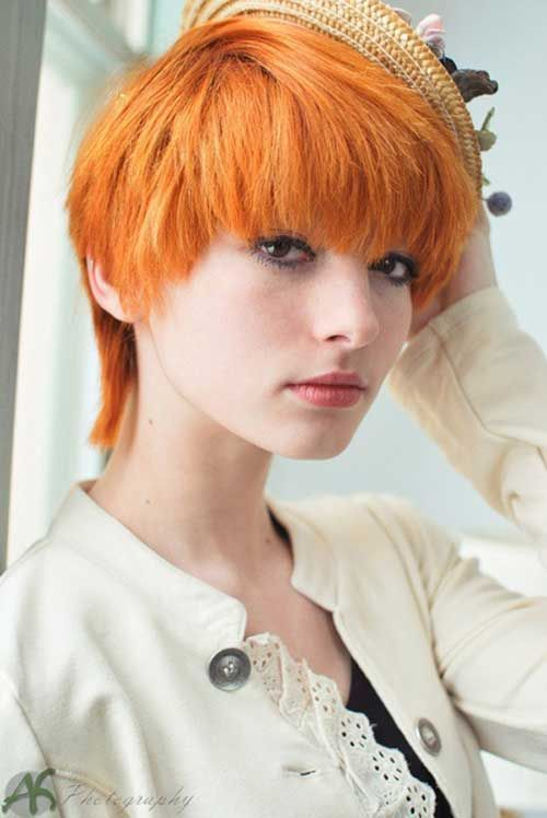 Cute Short Red Hairstyle Lovely Hair