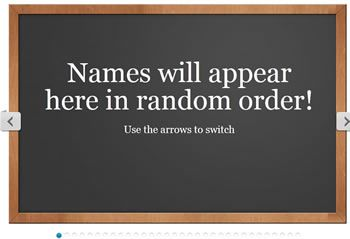 Random Name Selector--kids loved it last year! You can also make groups, seating charts, add photos. Awesome.