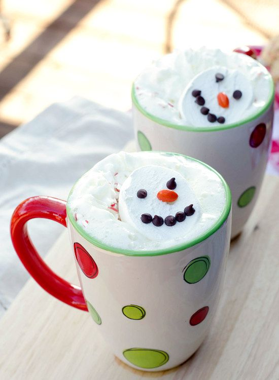 """Snowman Soup"""" -- white hot chocolate in the slow cooker"""