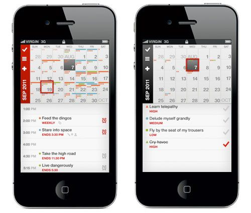 Calvetica is an iphone calendar app that is sleek fast and easy to