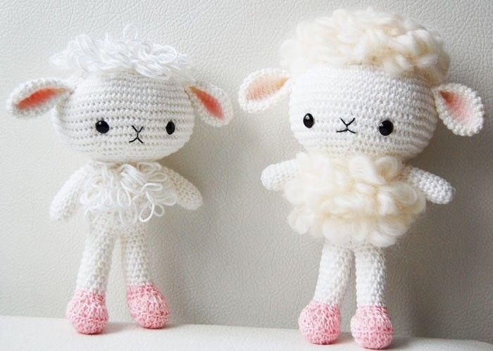 Amigurumi Lamb Patterns : Amigurumi Pattern - Cloudy the Lamb