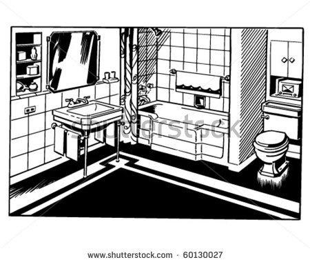 Perfect Bathroom Empty Room Vector Vector  Free Download