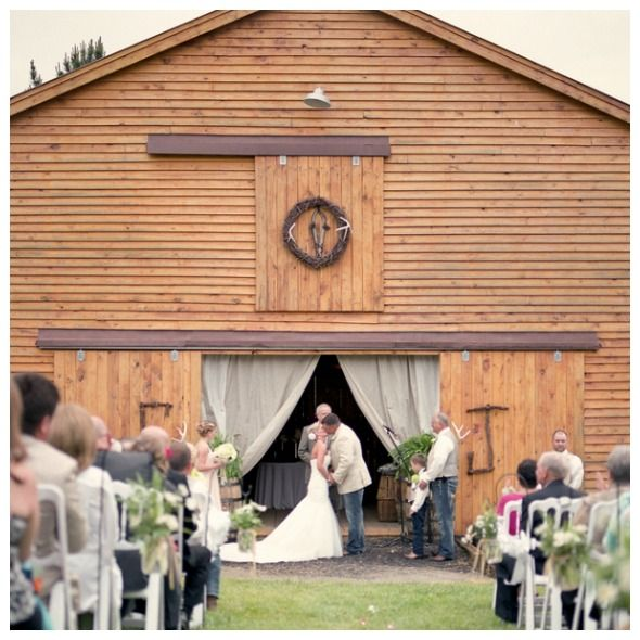 Beautiful Barn Wedding Ceremony