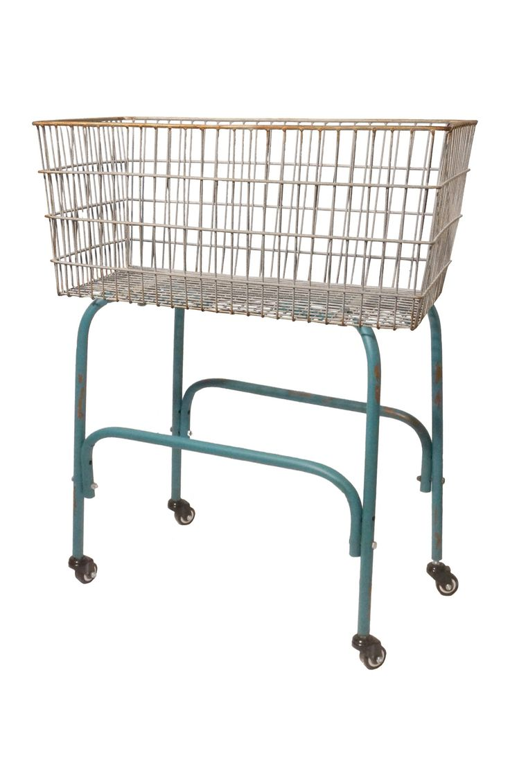 Metal Laundry Cart With Wheels For The Home Pinterest