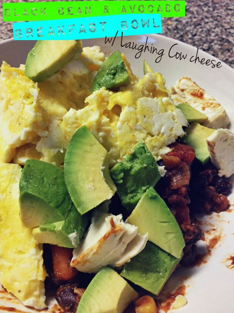 Black Bean & Avocado Breakfast Bowl recipe using The Laughing Cow ...
