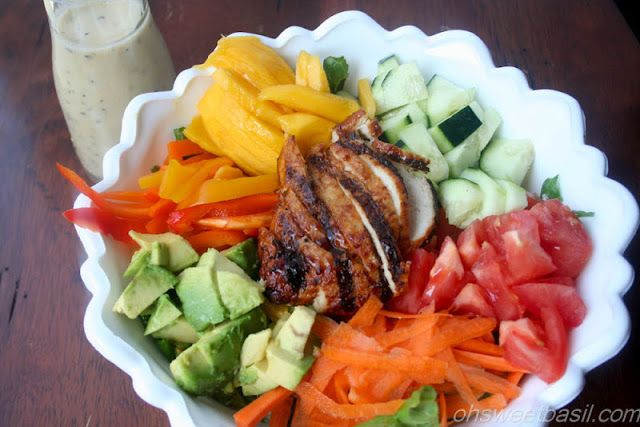 mango teriyaki chicken salad with asian poppyseed dressing ...