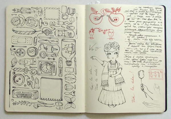 Sketchbook idea how many things can you fit on one page for Random sketch ideas