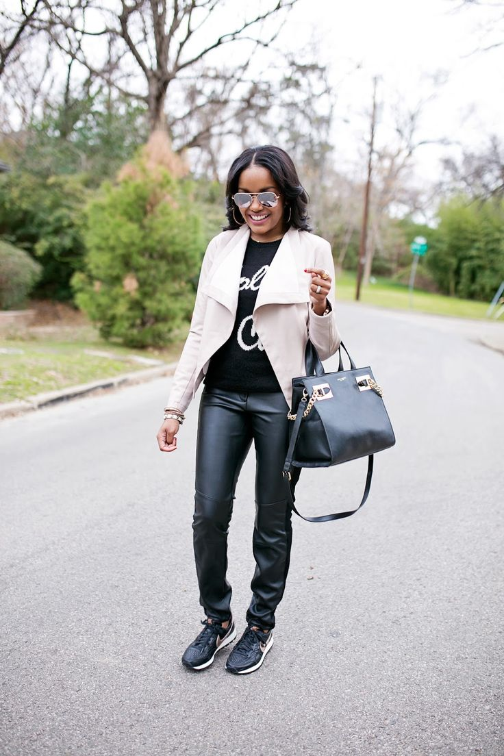29 Best Fall Leather Jacket Outfits To Pin Right Now pics