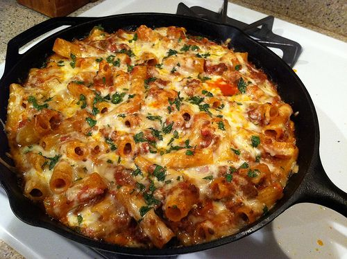 Cheesy baked skillet rigatoni | What's for dinner @ Casa de Carrizosa ...