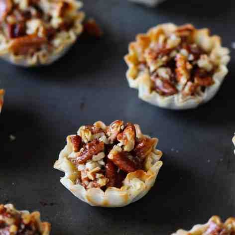 Mini Pecan Phyllo Tarts | Hidden Healthful Recipes - November 2013 ...