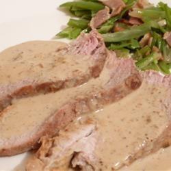Pork Tenderloin with Dijon Marsala Sauce Allrecipes.com photo by Lucky ...