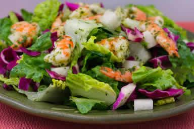 Chopped Salad Recipe with Shrimp, Cabbage, Jicama, and Cilantro-Lime ...