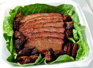 Texas barbecue brisket turn in box