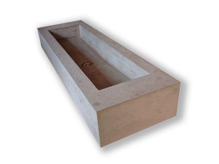 Waschbecken beton - Wandgehangtes waschbecken beton trendiges design ...
