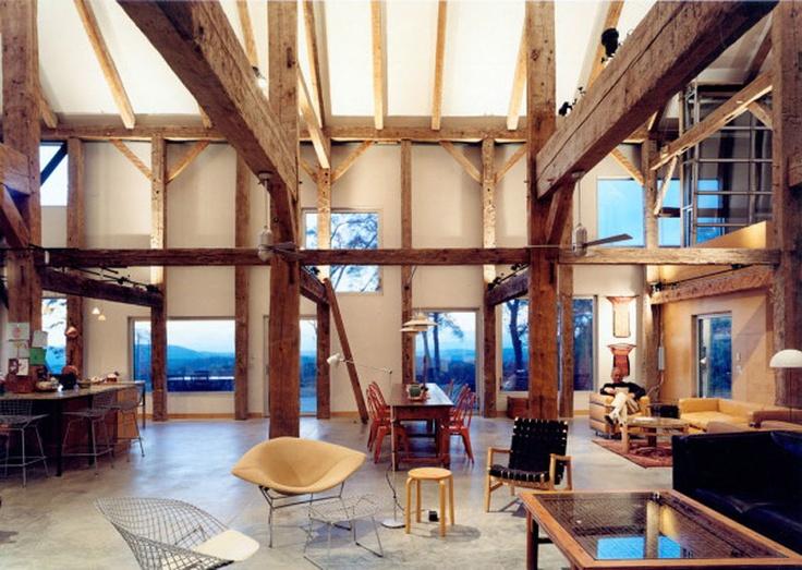Pole Barn Living Room House Ideas Pinterest