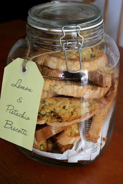 Lemon & Pistachio Biscotti | CoffEe ShOp | Pinterest