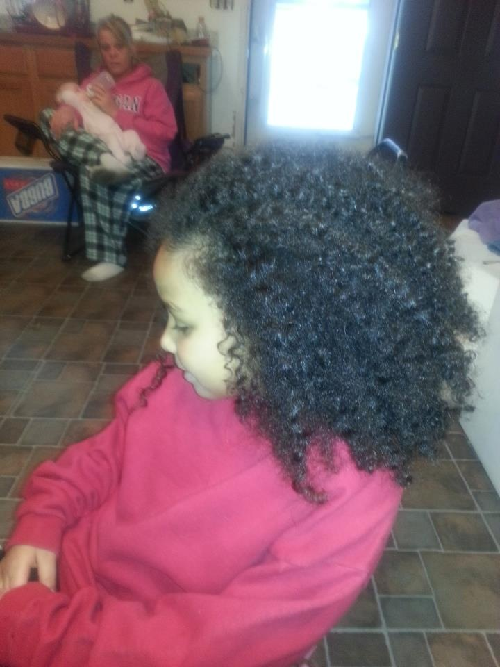 ... is Arielle's before picture | Cornrow styles for little girls