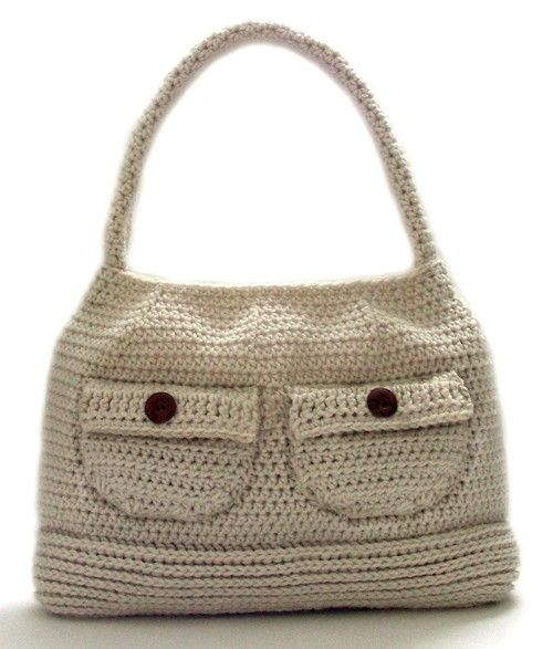 Crochet Girl Bag : Working Girl Shoulder Bag - PDF Crochet Pattern - Instant Download
