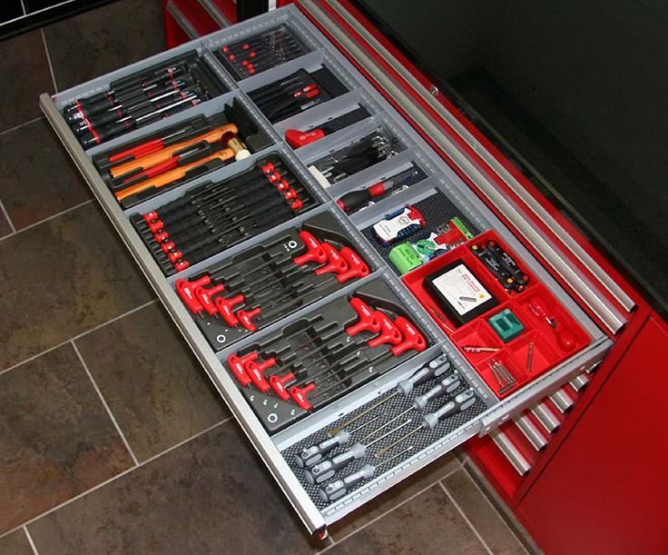Organized Tool Box Workshop Storage Pinterest