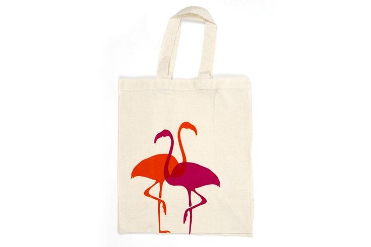 Tote Bag - 'Flamingos'. $15.00, via Etsy.