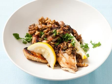 Chicken Cutlets with Walnut Caper Brown Butter