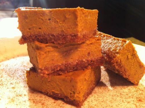 Paleo Pumpkin Pie Bars | Healthy Recipes | Pinterest