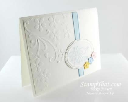 Handmade Easter card with Stampin' Up Easter Dove stamp set - simple and elegant