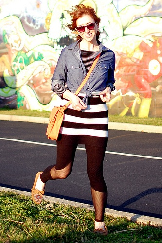 Want to try stripes + black solid + jean jacket