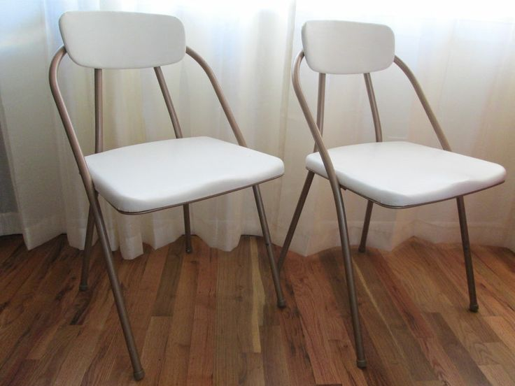 vintage mid century cosco hamiliton stylaire folding chairs metal