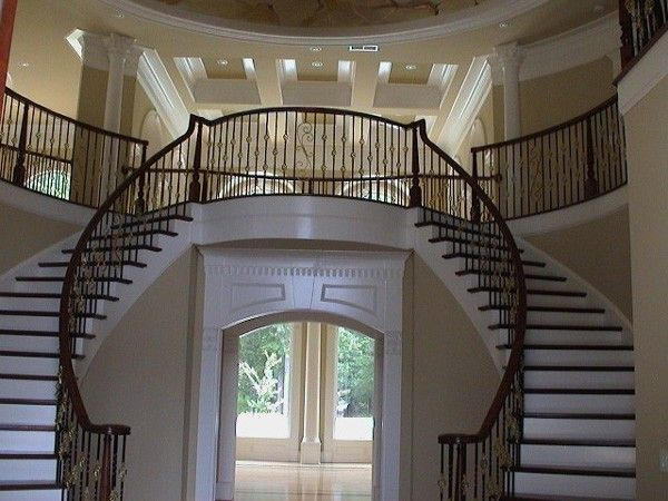 Elegant Interiors Double Grand Staircase Home Decor