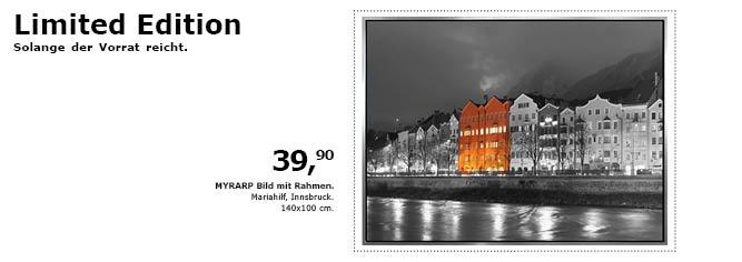 Eine limitierte Auflage ;) - Mariahilf in Innsbruck bei Nacht. - IKEA ...