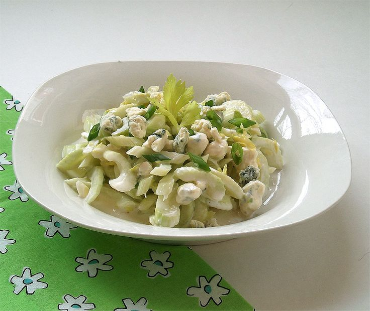 Celery, Blue Cheese And Hazelnut Salad Recipe — Dishmaps