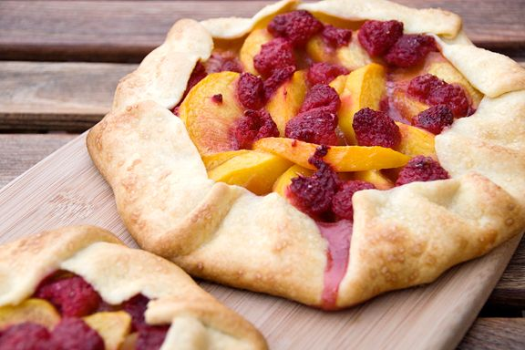Peach-Raspberry Galette adapted from Baking with Julia by Dorie ...