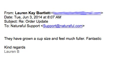cup size and fuller naturaful  Testimonials  Pinterest