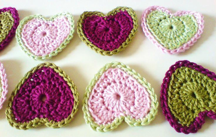 Crochet Heart : Crochet Hearts Valentines day :) Pinterest