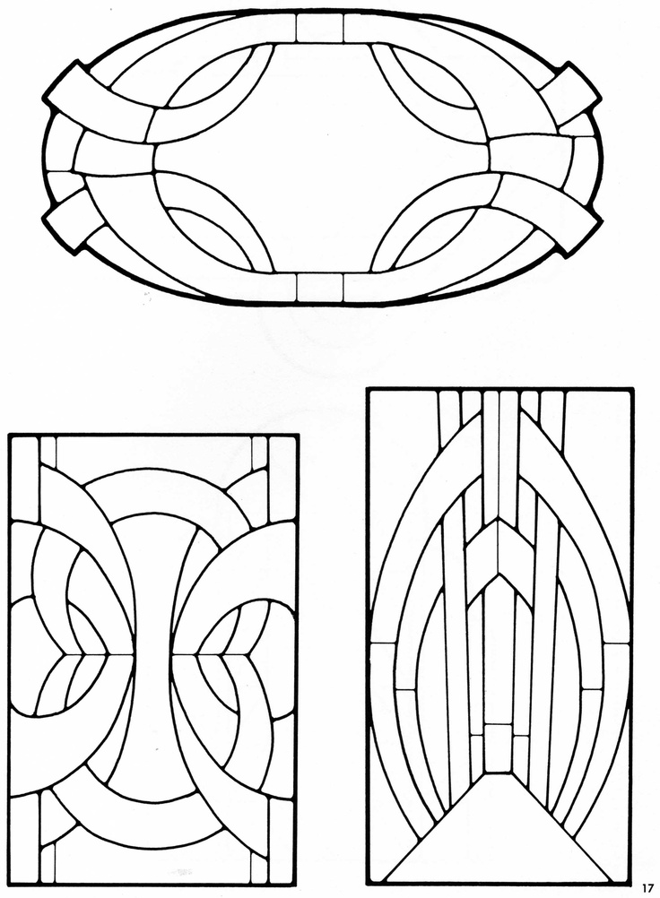 simple art deco stained glass patterns. Black Bedroom Furniture Sets. Home Design Ideas
