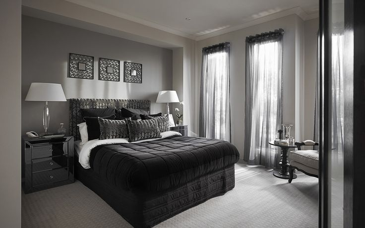 luxe master bedroom gray interiors pinterest. Black Bedroom Furniture Sets. Home Design Ideas