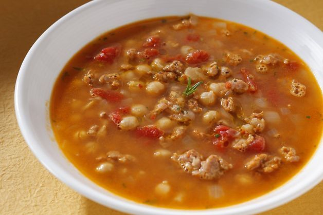 Spicy Pork Stew With Chickpeas And Sausage Recipe — Dishmaps