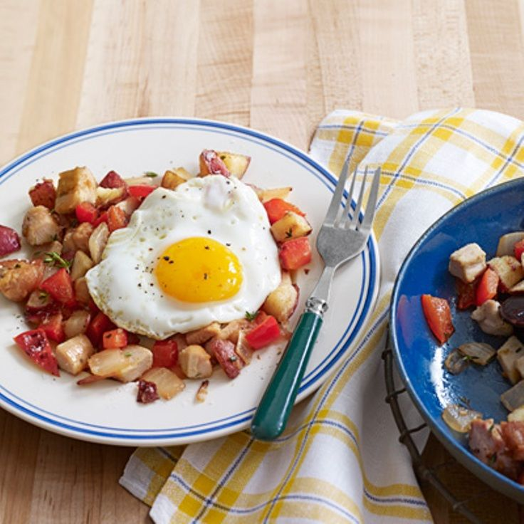 Turkey Hash with Sunny-Side-Up Eggs | Recipes To Try | Pinterest