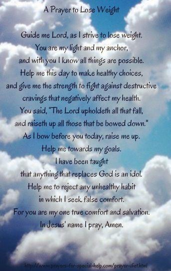 Catholic prayer to lose weight