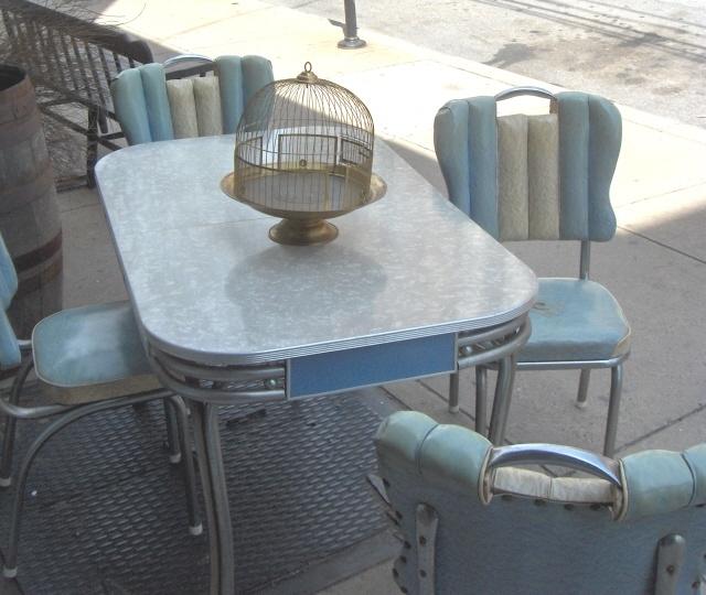 Retro Chrome Dinette Set In Blue Mid Century Modern Pinterest