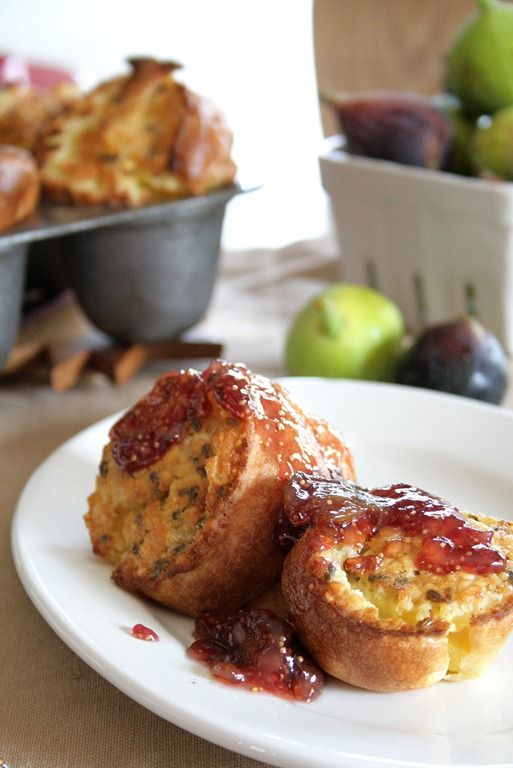 Honey Lavender Popovers with Vanilla Fig Sauce. Woah, what? This ...