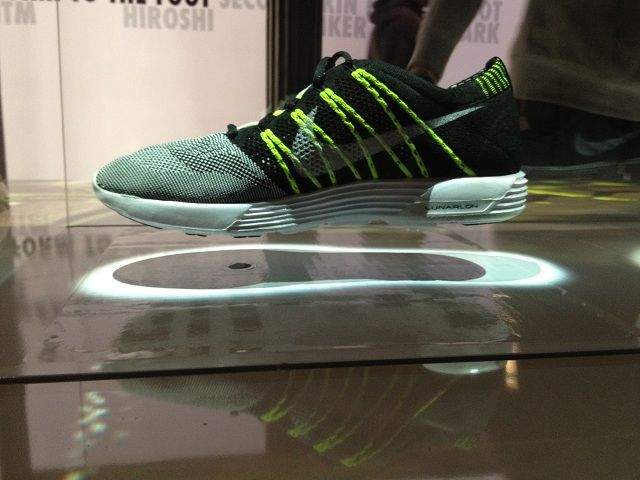 Nike Flyknit: shoes so light they float. Effect created with attracted