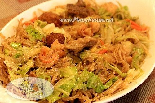 Pancit Bihon Recipe (Filipino Fried Rice Noodles) Recipe — Dishmaps