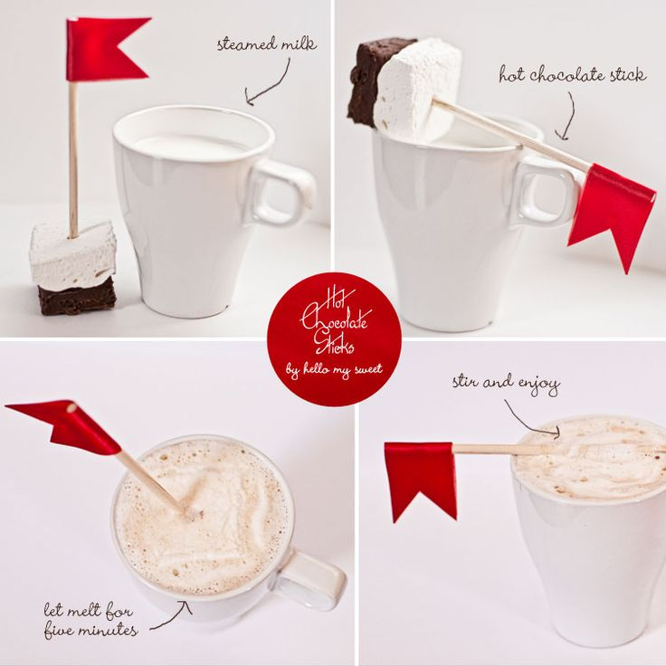 Recipe,Hot chocolate sticks with hand crafted marshmallow and dark chocolate ganache from www.hellomysweet.me
